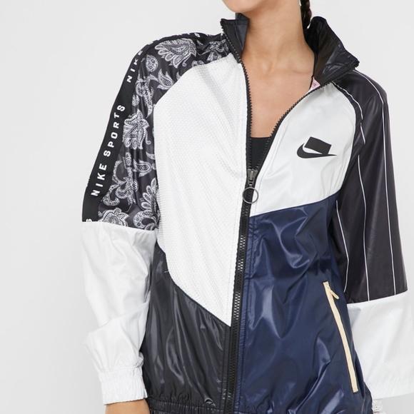 nike woven track jacket